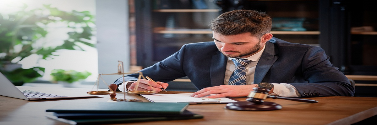 Lawyer Or Attorney Working In The Office. Law And Justice Concep